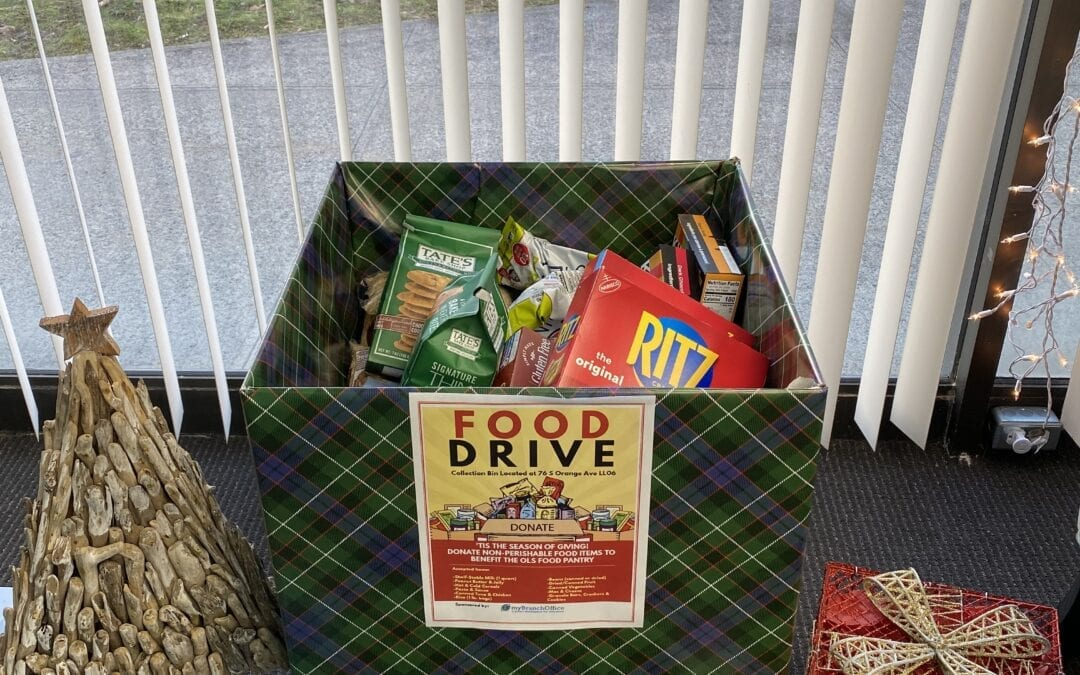 First Food Drive Drop Off